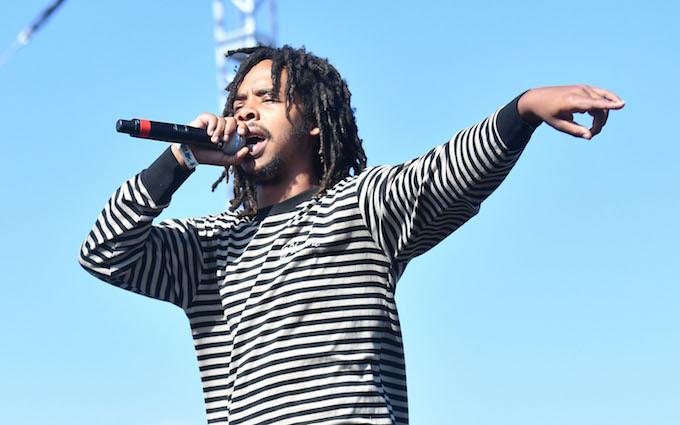 Earl Sweatshirt performing in Long Beach