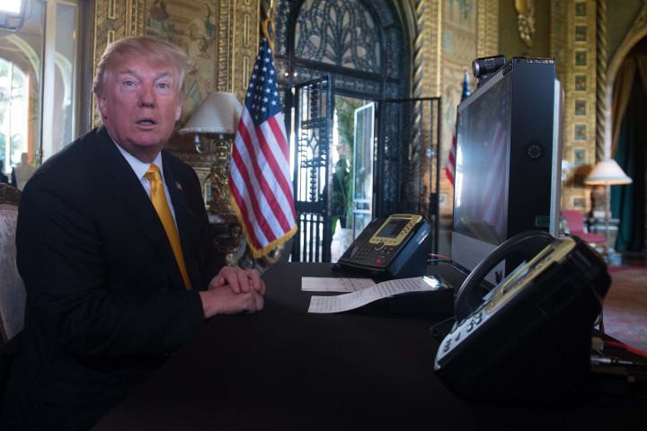 Donald Trump prepares his traditional address