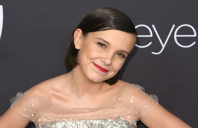Millie Bobby Brown arrives at the 18th Annual Post-Golden Globes Party