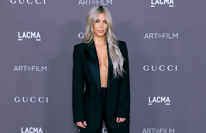Kim Kardashian West attends the 2017 LACMA Art + Film Gala.