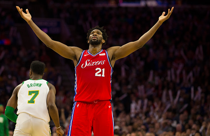 hot sale online 05671 d80b3 Joel Embiid on Sixers Loss Against the Celtics: 'The ...