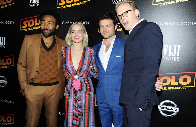Donald Glover, Emilia Clarke, Alden Ehrenreich and Paul Bettany