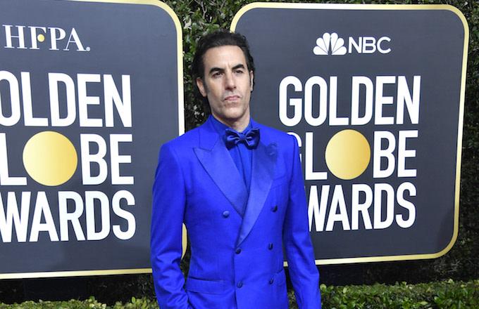 Sacha Baron Cohen attends the 77th Annual Golden Globe Awards.