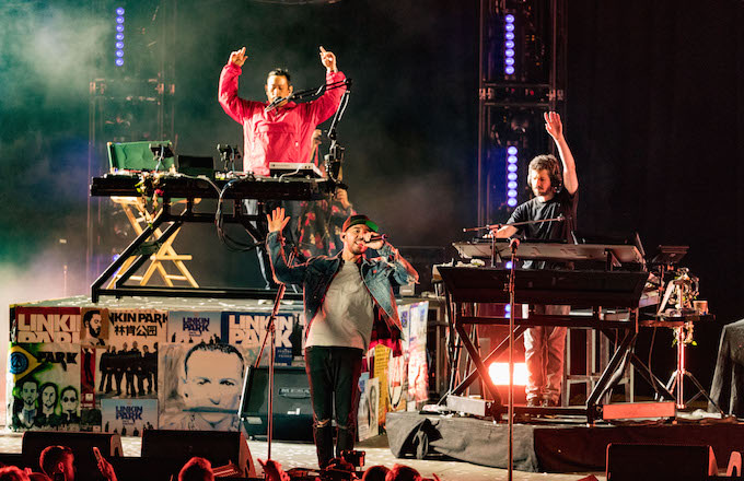Linkin Park perform a concert to celebrate Chester Bennington's life.