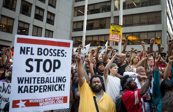 Colin Kaepernick NFL collusion case protestor