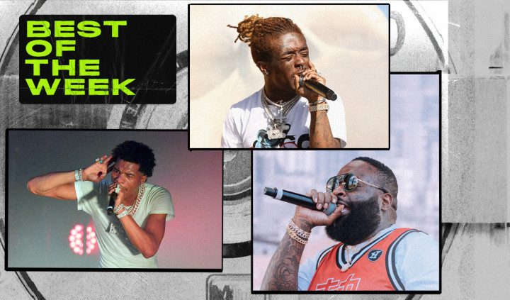 Best New Music lead art featuring Rick Ross, Lil Uzi Vert, and Lil Baby