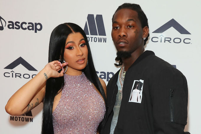 This is a picture of Cardi B and Offset.