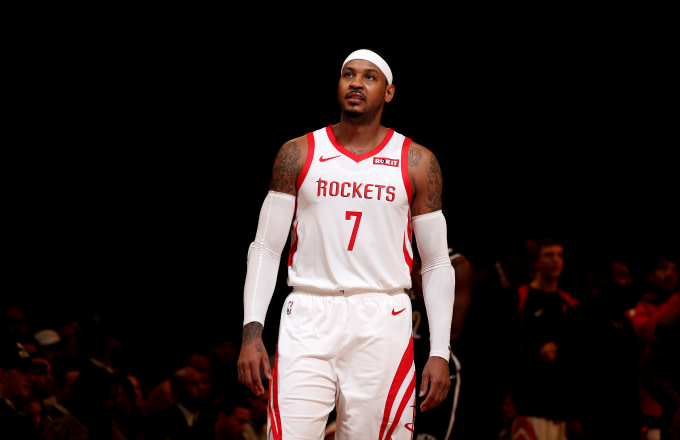 purchase cheap de54f 6232c Carmelo Anthony Reportedly Working Out With Nets Players in ...