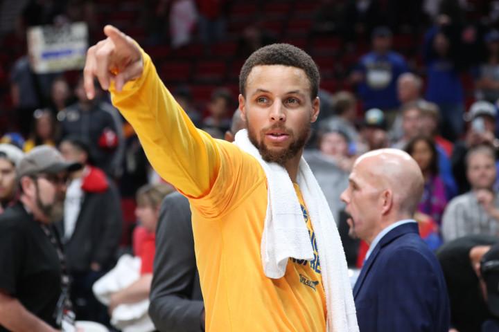 Stephen Curry Warriors Blazers Game 4 Portland 2017