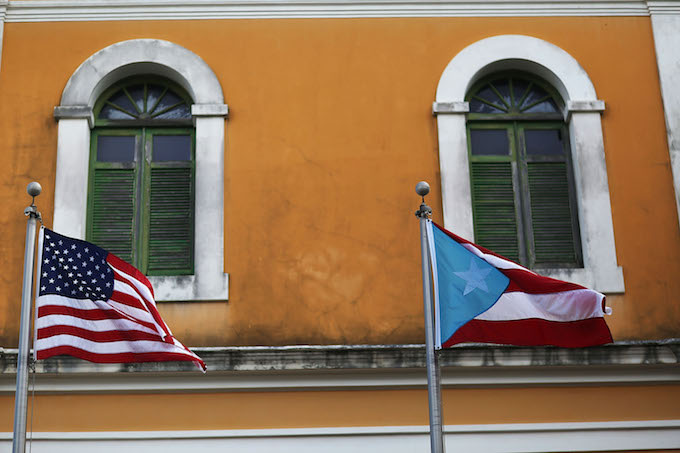 Flags in Puerto Rico