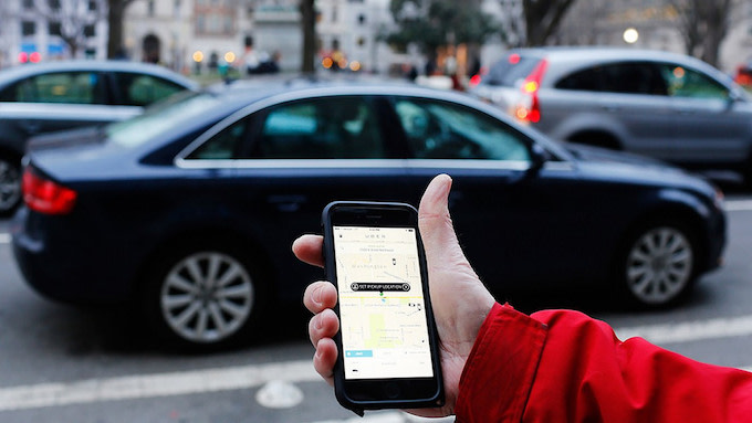 This is a picture of an Uber app.