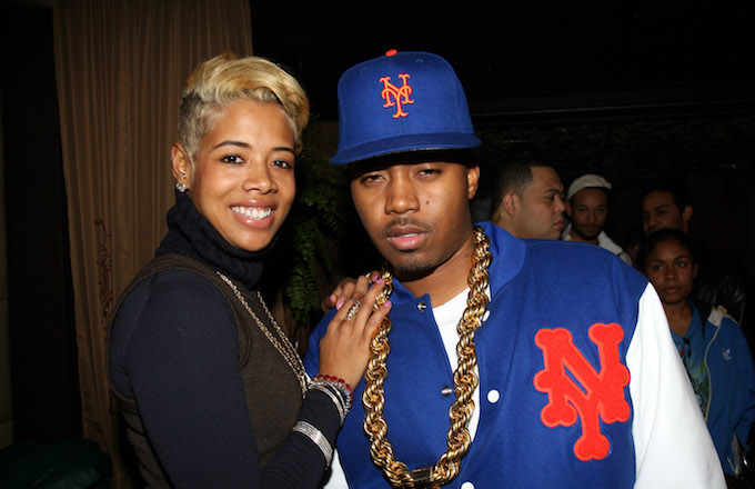 Kelis and Nas during Trace Magazine's 10-Year Anniversary.