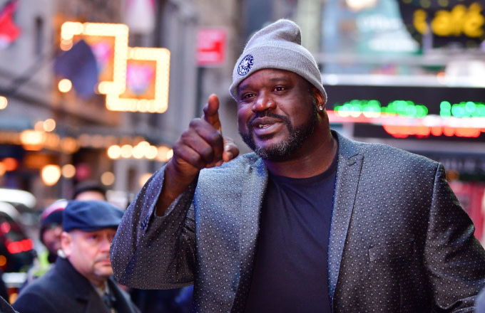 Shaquille O'Neal arrives to ABC's 'Good Morning America'
