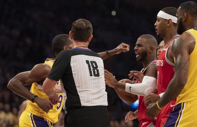 Rajon Rondo, Chris Paul, Carmelo Anthony, LeBron James