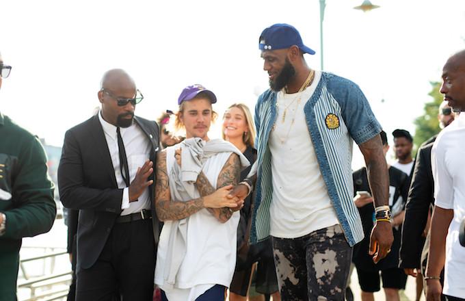Justin Bieber and LeBron James