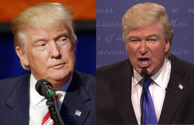 Donald Trump and Alec Baldwin composite