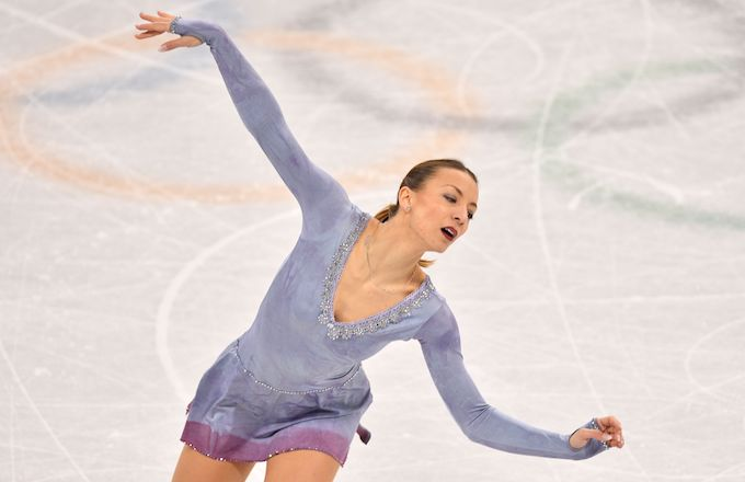 Nicole Schott performing at the Winter Olympics 2018.