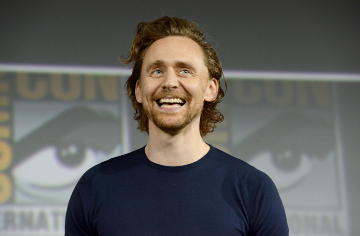 Tom Hiddleston speaks at the Marvel Studios Panel during 2019 Comic-Con