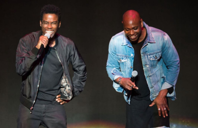 Chris Rock and Dave Chappelle share the stage.