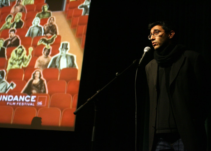 Ramin Bahrani, director of 'Man Push Cart,' at the film's Sundance premiere