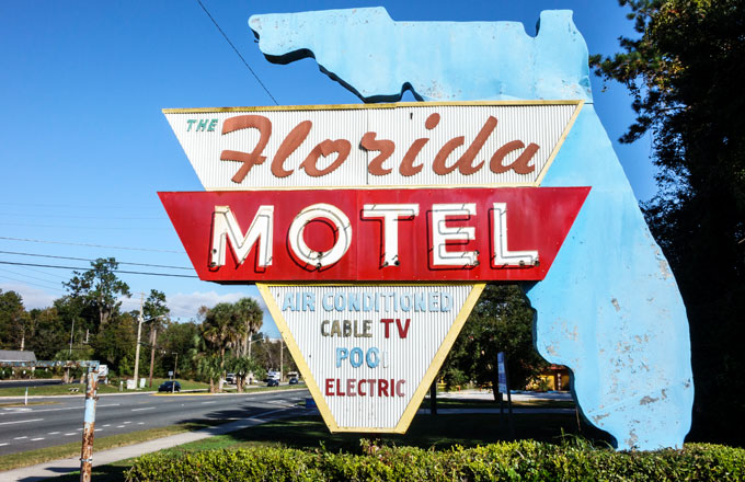 Florida motel sign