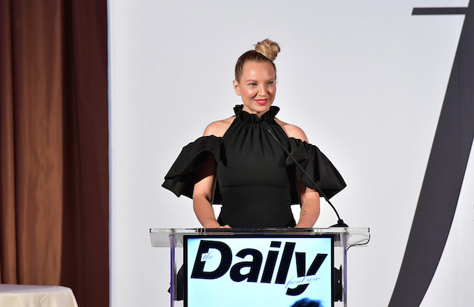 Sia speaks onstage duing The Daily Front Row Fashion LA Awards 2019.