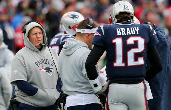 Bill Belichick and Tom Brady.