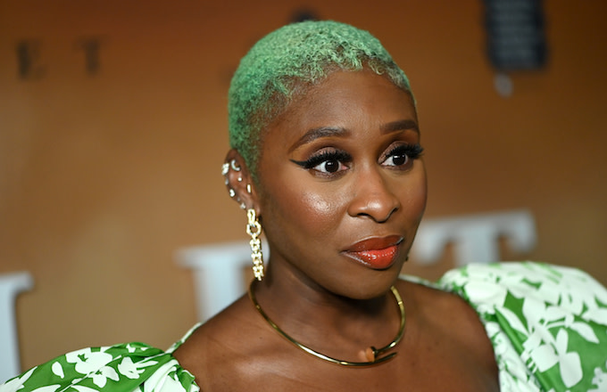 "Cynthia Erivo attends the Washington, DC premiere of ""Harriet."""