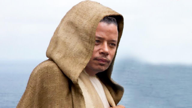 Terrence Howard as Luke Skywalker in 'The Last Jedi'