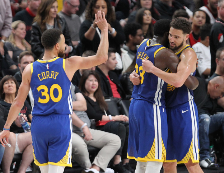 Steph Draymond Klay Warriors Blazers Western Conference Finals 2019 Game 4
