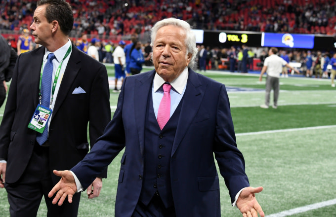 CEO of the New England Patriots Robert Kraft attends the Super Bowl LIII