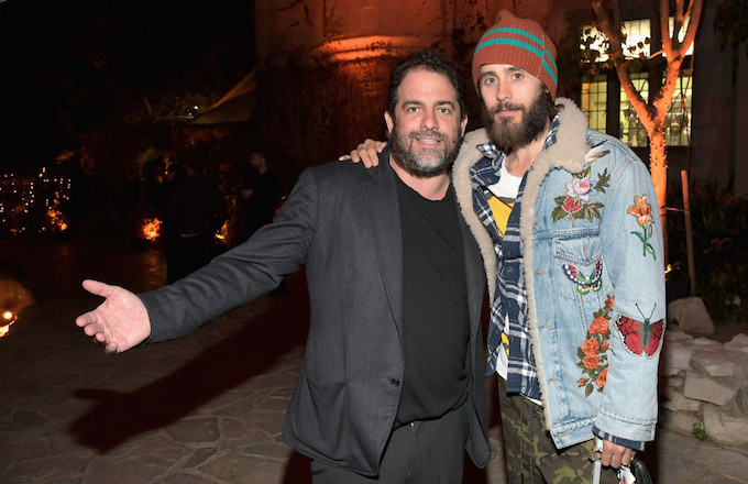 Brett Ratner and Jared Leto at the Playboy Mansion.