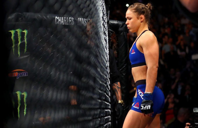 Ronda Rousey enters Octagon for her fight against Amanda Nunes in UFC 207.