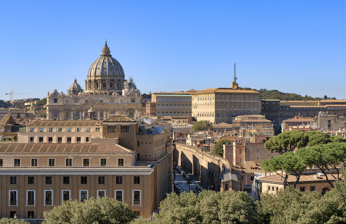 Vatican City is seen at Castel Sant'Angelo.