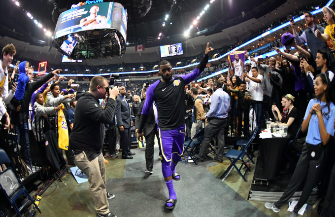 LeBron James leaves the arena after a game against the Memphis Grizzlies