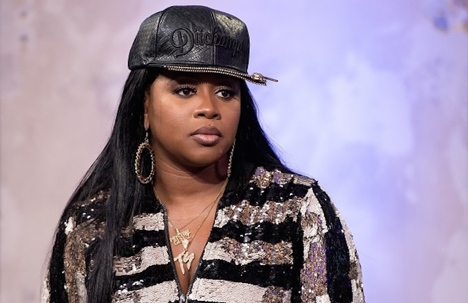 Remy Ma attends The Build Series to discuss 'Plata o Plomo'