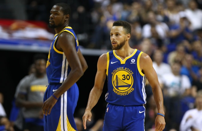 Kevin Durant and Steph Curry.