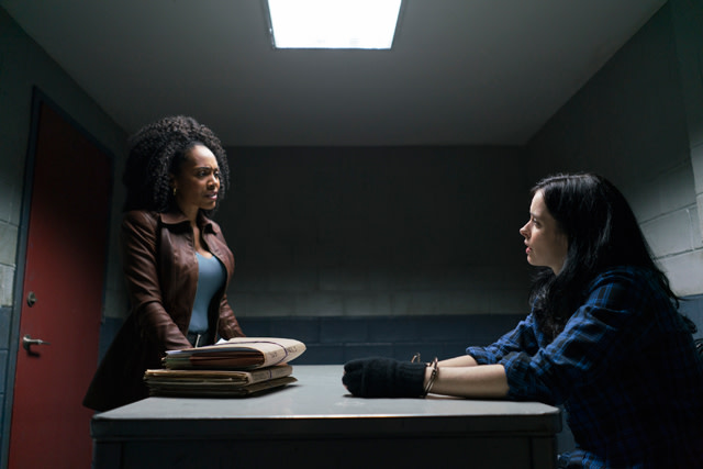 Simone Missick and Krysten Ritter as Misty Knight and Jessica Jones in 'Marvel's The Defenders'