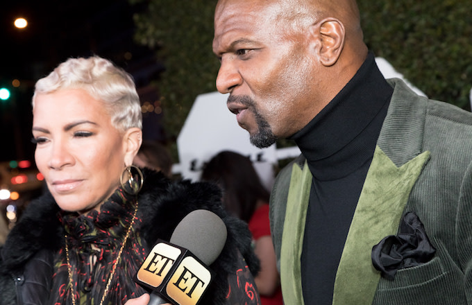 Terry Crews and Rebecca King-Crews attend Esquire's Annual Mavericks Of Hollywood