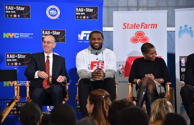 Adam Silver, LeBron James, Michele Roberts