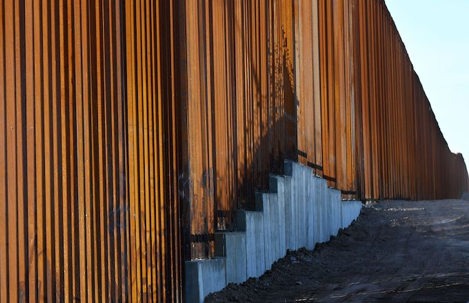 30-foot border wall in the El Centro Sector.