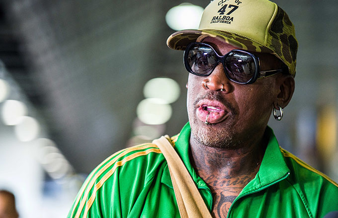 This is a photo of Dennis Rodman.