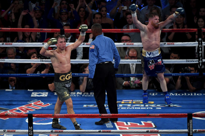 Golovkin Canelo 12th Round 2017 Getty