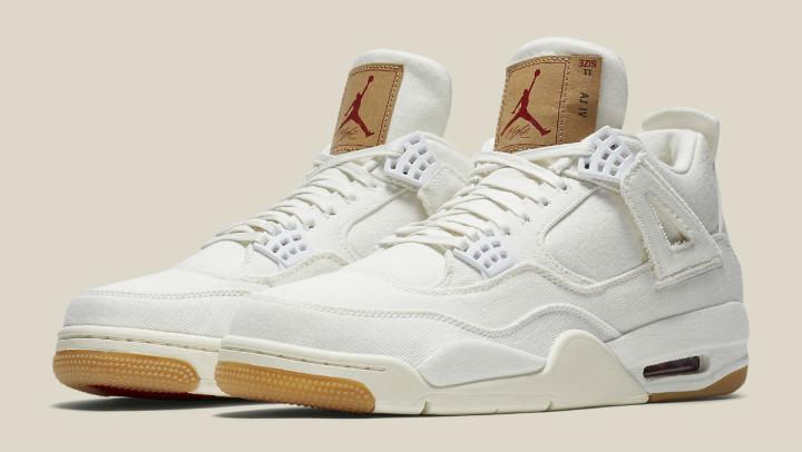 7738ba5e928 Levi's x Air Jordan 4 White Demin Release Date AO2571-100 Pair