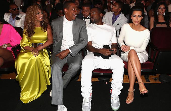 Beyonce, Jay Z, Kanye, and Kim Kardashian