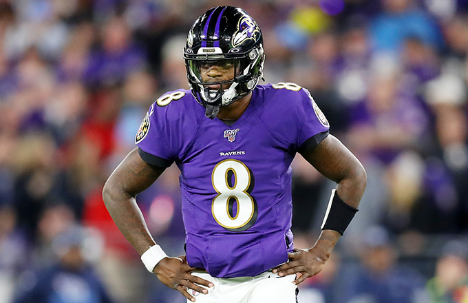 This is a photo of Lamar Jackson
