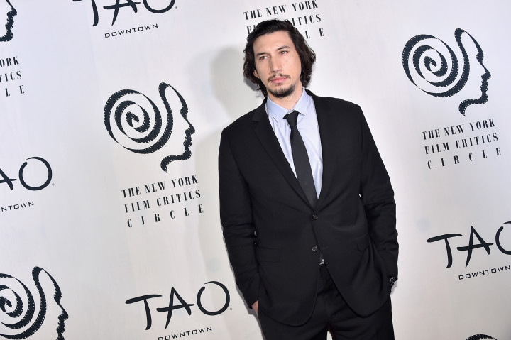 Adam Driver attends the 2016 New York Film Critics Circle Awards