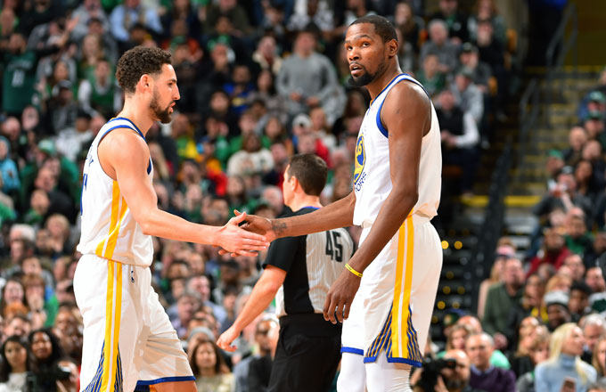 Klay Thompson and Kevin Durant