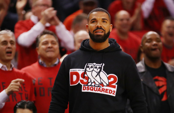 Rapper Drake attends game four of the NBA Eastern Conference Finals