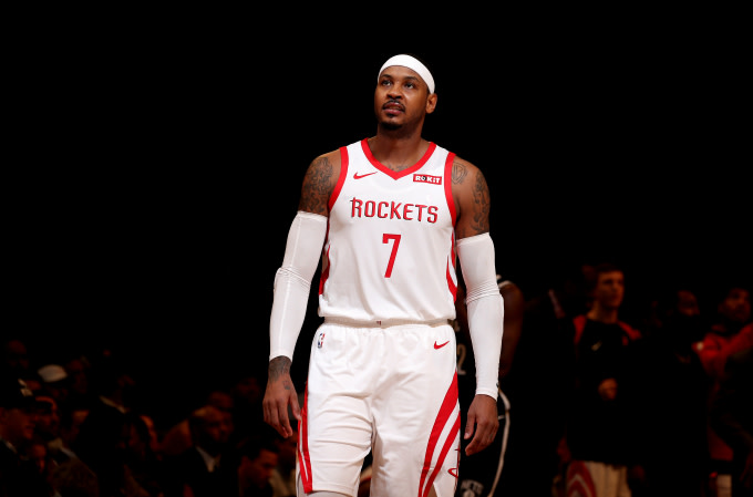 Carmelo Anthony #7 of the Houston Rockets